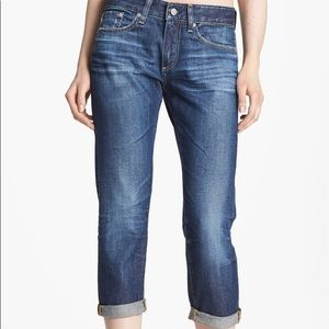 """AG """"Piper"""" Slouchy Slim Crop Jeans"""